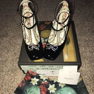c4bfcb38d Gucci Shoes | Taide Embellished Black Patent Pump 39 9 | Poshmark